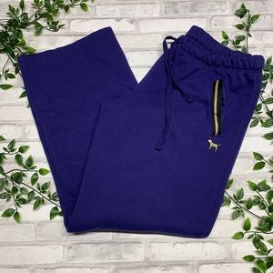 PINK Victoria's Secret Purple/gold sweatpants